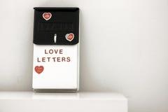 Letras de amor Fotografia de Stock