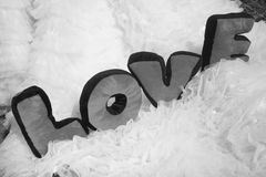 Letras de amor Imagen de archivo libre de regalías