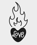 Letras de amor Fotos de archivo