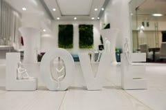 Letras de amor Foto de Stock