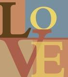 Letras de amor abstractas Imagen de archivo libre de regalías
