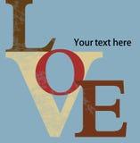 Letras de amor abstractas del fondo Foto de archivo libre de regalías