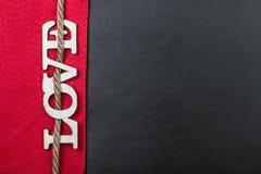 Letras de amor cortadas de la madera contrachapada Fotografía de archivo libre de regalías