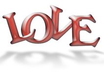 Letras de amor da geléia Fotografia de Stock