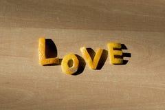 Letras de amor de una naranja Imagen de archivo