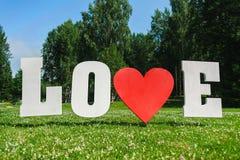 Letras de amor grandes Foto de archivo libre de regalías