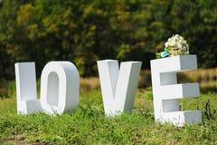 Letras de amor grandes Foto de archivo