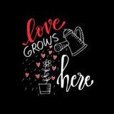 Letras de amor románticas El amor crece aquí libre illustration