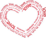 Letras de amor (vetor) Fotos de Stock