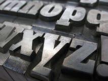 Letras de bloco Foto de Stock