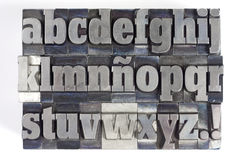 Letras de bloco Foto de Stock Royalty Free