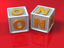 Letras de bloco - mal do conceito 3d Ilustração Stock