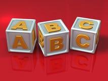 Letras de bloco - mal do conceito 3d Ilustração do Vetor