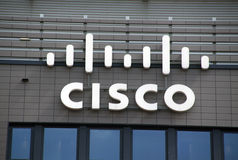Letras de Cisco en una pared Fotos de archivo libres de regalías
