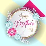 Letras de día felices de madres Imagen de archivo
