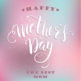 Letras de día felices de madres tarjeta de felicitación del día de madres Fotos de archivo libres de regalías