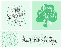 Letras de día felices del St Patricks Foto de archivo