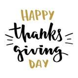 Letras de día felices de la acción de gracias Imágenes de archivo libres de regalías
