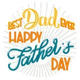 Letras de día felices de padre stock de ilustración