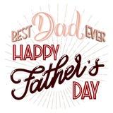 Letras de día felices de padre ilustración del vector