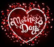 Letras de día de madres en corazón Imagen de archivo libre de regalías