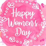 Letras de día para mujer felices con el marco floral libre illustration