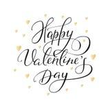 Letras de día románticas de las tarjetas del día de San Valentín Imagen de archivo