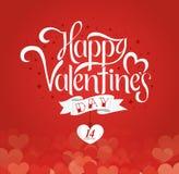 Letras de días felices de las tarjetas del día de San Valentín Fotos de archivo libres de regalías