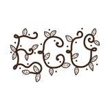 Letras de Eco com folhas Fotos de Stock