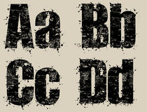 Letras de Grunge Foto de Stock