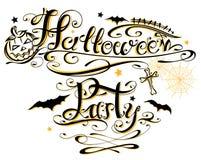 Letras de Halloween Fotografía de archivo libre de regalías
