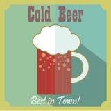 Letras de Handdrawin para la casa de la cerveza con la taza de cerveza del arte Cartel de la cervecería Imagen de archivo