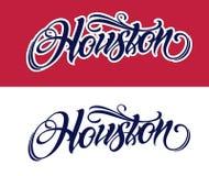 Letras de Houston en estilo del tatuaje libre illustration