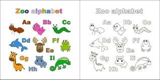 Letras de A a I Alfabeto del parque zoológico Imagenes de archivo