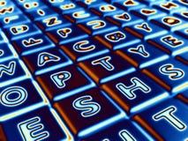 Letras de incandescência Imagem de Stock