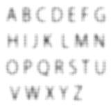 Letras de intervalo mínimo Imagem de Stock Royalty Free