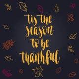 Letras de la acción de gracias stock de ilustración