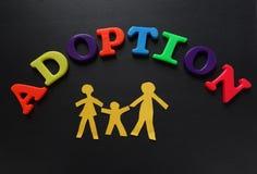 Letras de la adopción Fotografía de archivo libre de regalías