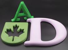 letras de la aduana 3D Imagen de archivo libre de regalías