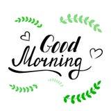 Letras de la buena mañana Fotos de archivo libres de regalías