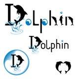 Letras de la cita de la camiseta del delfín Logotipo del diseño Elemento de la tipografía del diseño gráfico de la inspiración de ilustración del vector