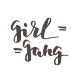 Letras de la cuadrilla de la muchacha Imagen de archivo libre de regalías