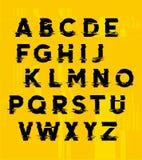 Letras de la distorsión de la interferencia Imágenes de archivo libres de regalías