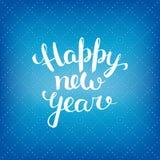 Letras de la Feliz Año Nuevo Imagenes de archivo