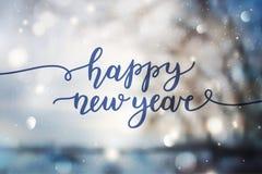 Letras de la Feliz Año Nuevo Imagen de archivo