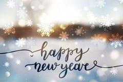 Letras de la Feliz Año Nuevo Foto de archivo libre de regalías
