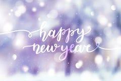 Letras de la Feliz Año Nuevo Fotos de archivo libres de regalías