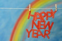 2017 letras de la Feliz Año Nuevo Imagen de archivo libre de regalías