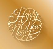 Letras de la Feliz Año Nuevo del oro Foto de archivo libre de regalías