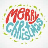 Letras de la Feliz Navidad stock de ilustración